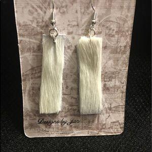 Earrings/leather 100% Cowhide with Hair (fur)